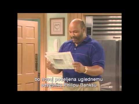 The Fresh Prince of Bel-Air: Scene with newspaper