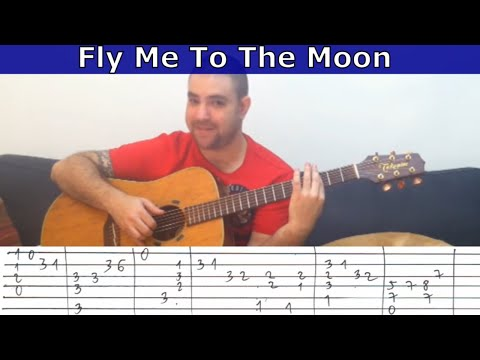 Fingerstyle Tutorial Fly Me To The Moon Guitar Lesson W Tab
