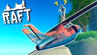 Finding A Wrecked Plane on a New Island!  - Raft Multiplayer Gameplay Ep8