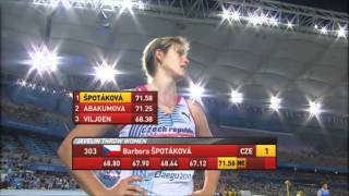 Women's Javelin Throw Final - WC Daegu 2011