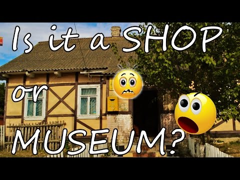 How people survive. Shop and museum in a Ukrainian village. Is it that bad?