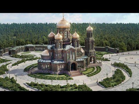 Визит Владимира Путина в Главный храм Вооруженных Сил РФ. Полное видео смотреть видео онлайн