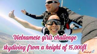 Trải nghiệm nhảy dù từ độ cao 15.000ft, tận hưởng 60 giây rơi tự do kỳ thú cùng bạn Hân Nguyễn