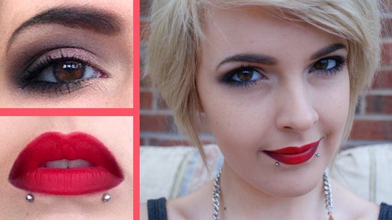 Red Lipstick Brown Hair Blue Eyes: Valentines Day Hair And Makeup Tutorial ♥ Red Ombre