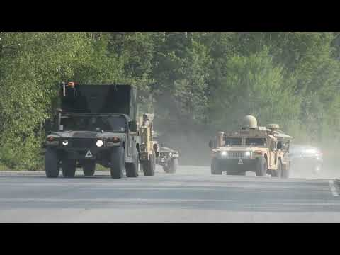 Saber Junction 2020 Conduct A Convoy Tactical Road March At The 7th Army Training Commands