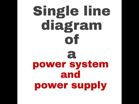 Single line diagram of power systems