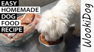 Homemade DOG FOOD Recipe (Best for a Fussy Eater) Wookidog Maltese Shih Tzu Recommendations