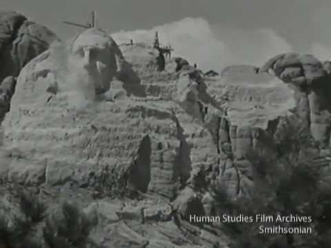 Construction of Mount Rushmore National Memorial