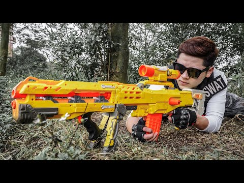 LTT Game Nerf War : Warriors SEAL X Nerf Guns Fight Crime Group Black Man Special mercenaries