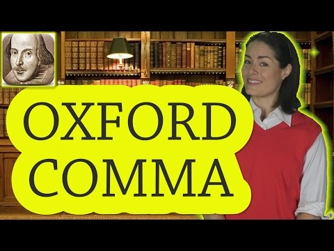 What is the Oxford Comma? |  Basic English Grammar Rules | ESL | SAT | TOEFL