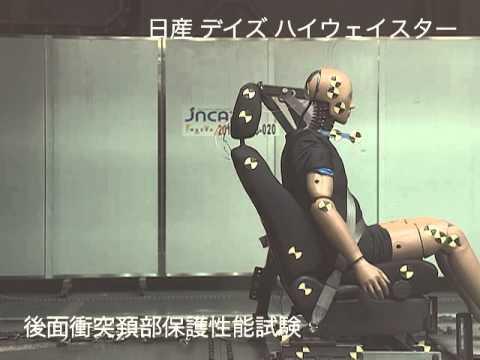 自動車アセスメント:日産デイズハイウェイスター:後面衝突頚部保護性能試験