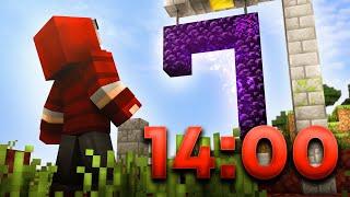 I beat Minecraft in UNDER 15 Minutes again | 1.16 RSG Speedrun [14:00]