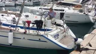 Катя швартует яхту (экзамен)