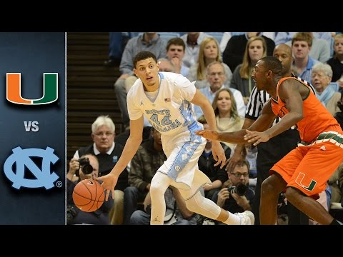 Miami vs. North Carolina Basketball Highlights (2015-16)