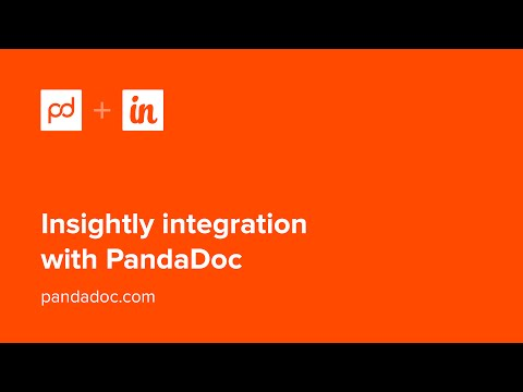 Get Started with the PandaDoc and Insightly Integration