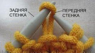 Уроки вязания на спицах. Лицевая и изнаночная петля.(Одна и та же петля в вязаном полотне имеет лицевую и изнаночную стороны. Гладкая сторона петли называется..., 2014-10-09T14:49:07.000Z)