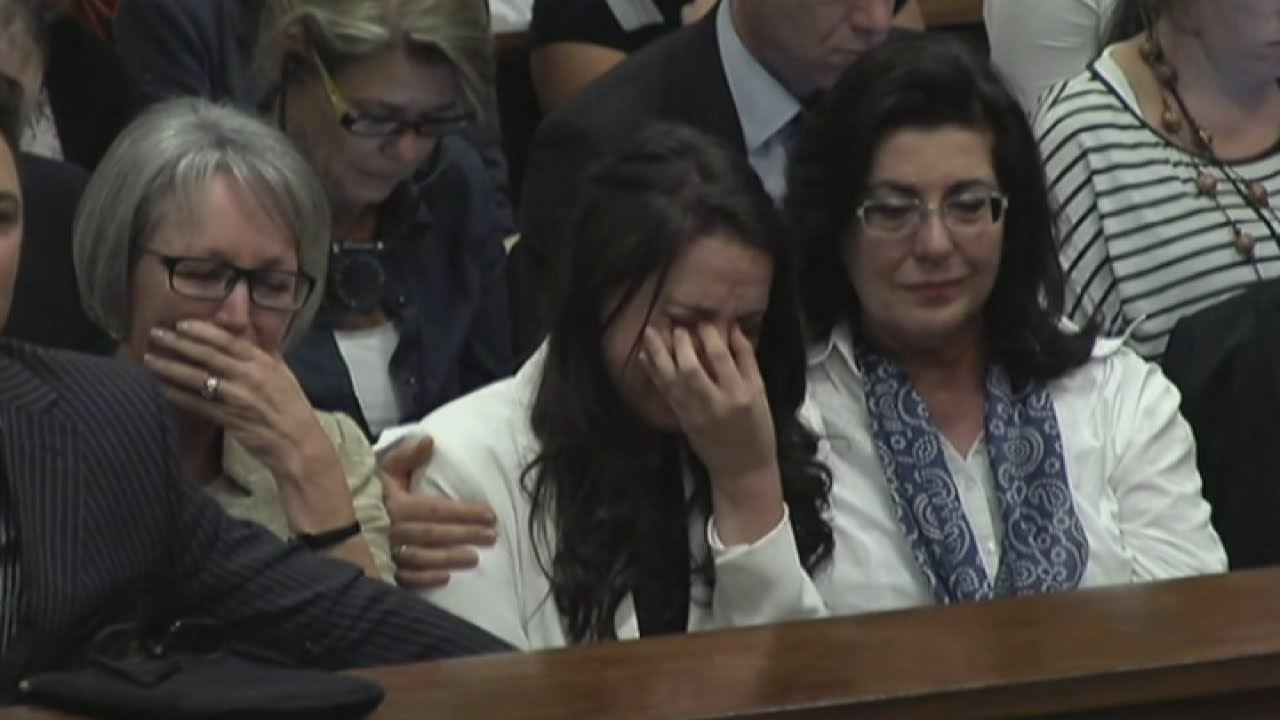 Emotional Oscar Pistorius breaks down in court describing the moment he found Reeva Steenkamp