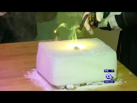 Burning Magnesium Inside Dry Ice