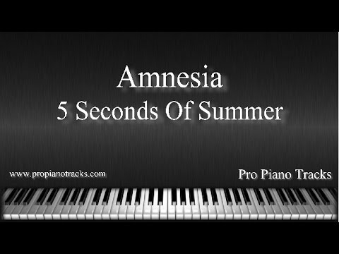 Amnesia - 5 Seconds of Summer Piano Accompaniment Karaoke/Backing Track