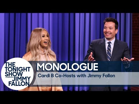 Co-Host Cardi B Tells Jokes In Jimmy&39;s Monologue