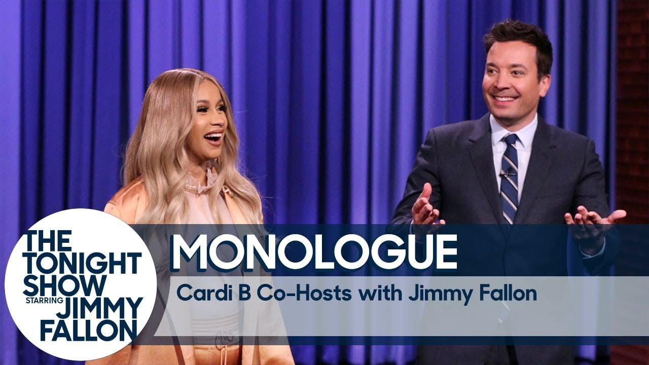 Co-Host Cardi B Tells Jokes In Jimmy's Monologue