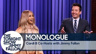 Co-Host Cardi B Tells Jokes In Jimmy's Monologue
