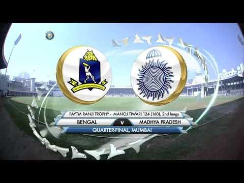 Manoj Tiwari (Bengal)124 vs Madhya Pradesh,Quarter Final,Ranji Trophy 2015-16