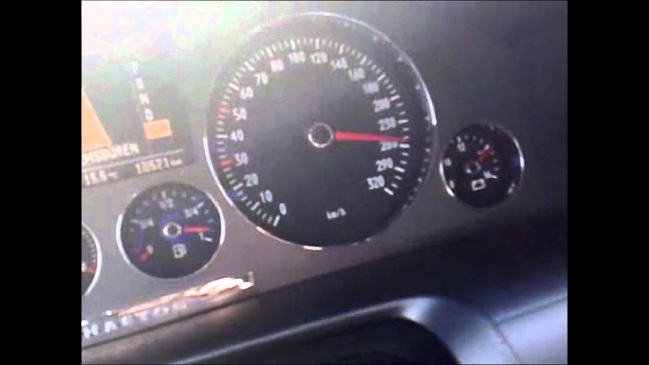 Volkswagen Phaeton 6.0i W12 450 Hp 100 - 270 Km/h in German Autobahn - YouTube