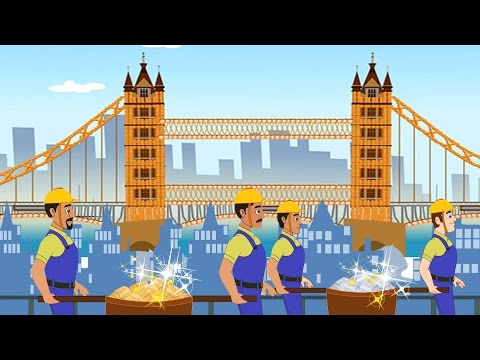 London Bridge is Falling Down | Popular Childrens Rhymes Collection | Kids Songs