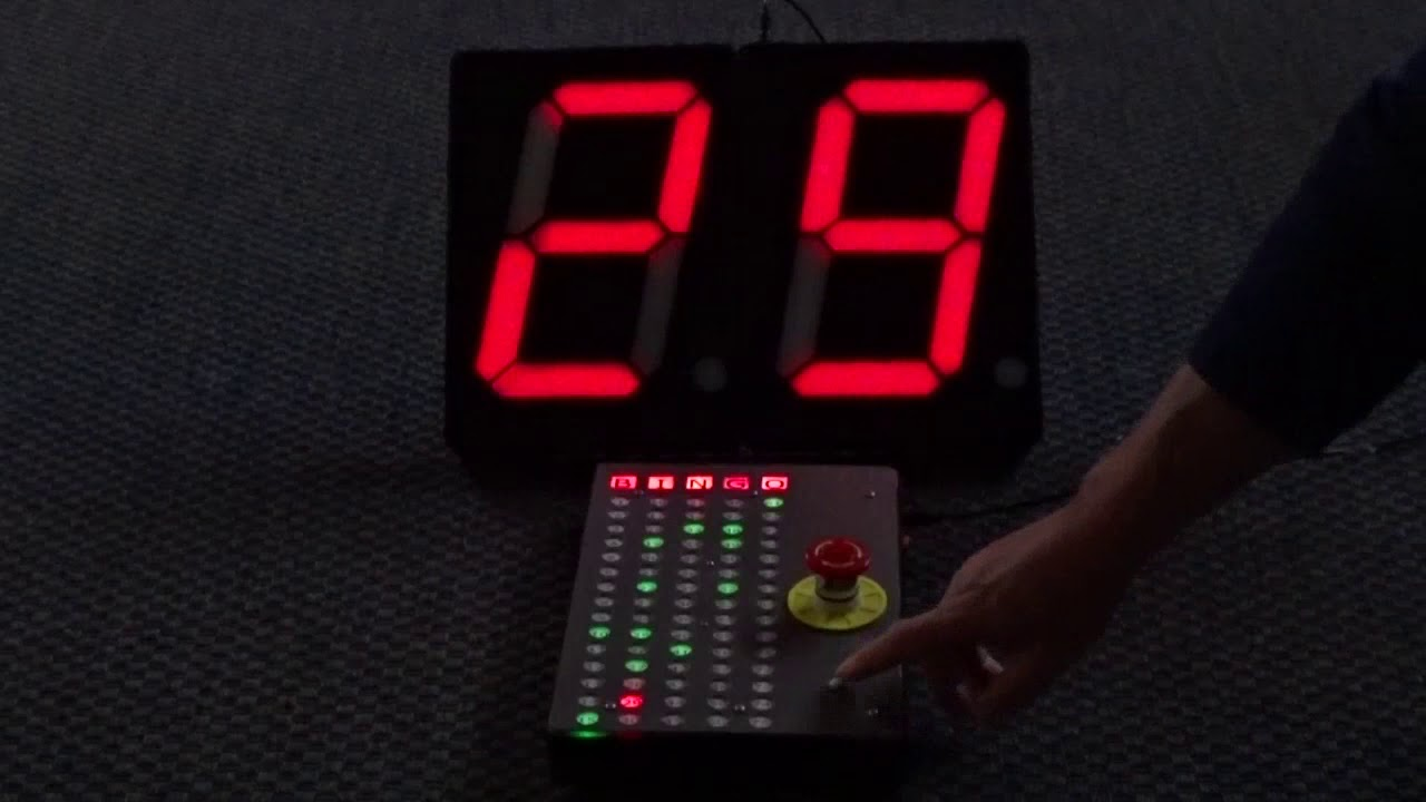 Arduino Bingo Machine with DIY A4-Size 7-Segment Displays