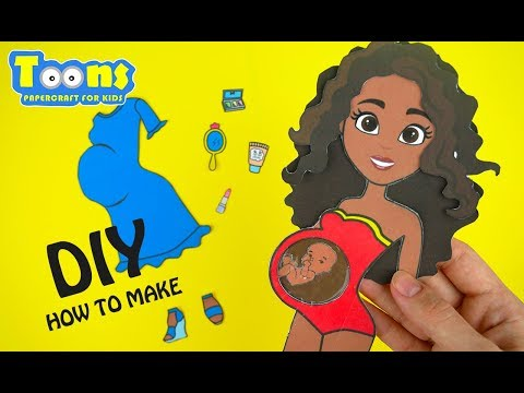 MY NEW PAPER DOLL WITH BABY HOW TO MAKE DIY PAPERCRAFT