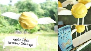 Golden Snitch Cake Pops!