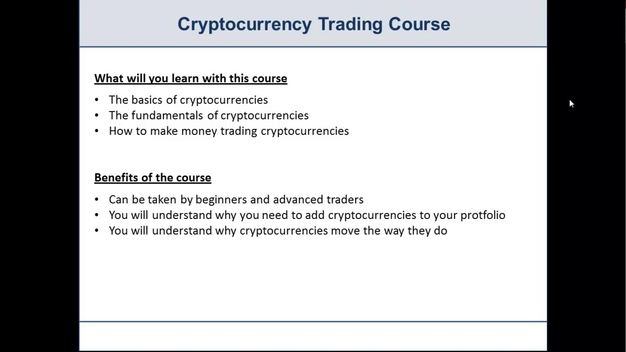 fundamentals of cryptocurrency trading