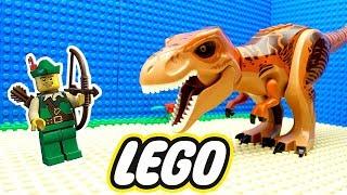 O MALVADO DINOSSAURO GIGANTE no LEGO (Lego Dinosaur)