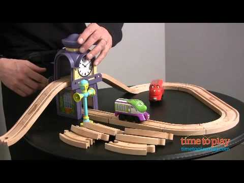 Chuggington Wooden Railway Over & Under Starter Set with Clock Tower ...