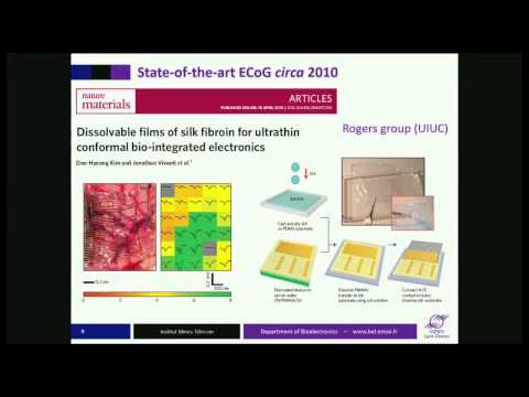 George Malliaras plenary: Interfacing with the Brain using Organic Electronics