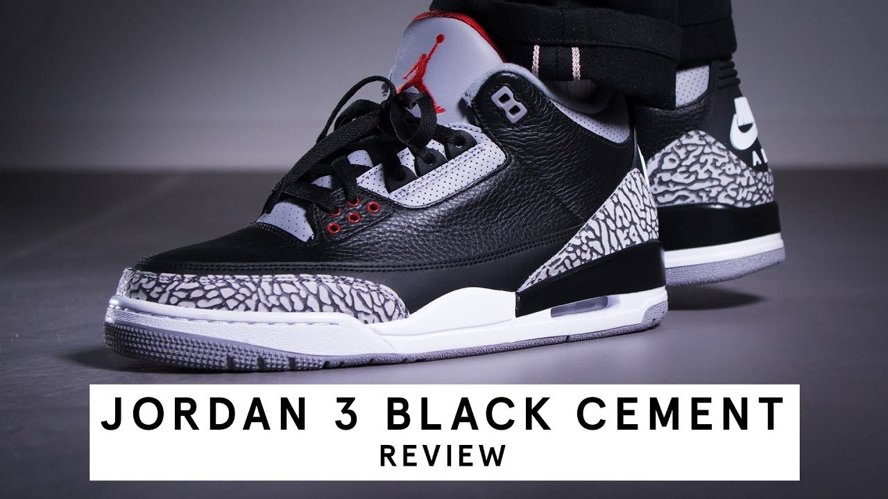 Jordan 3 Black Cement   Review (German)