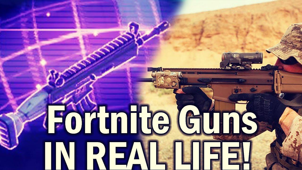 FORTNITE GUNS IN REAL LIFE Scar Minigun More NEW 2018