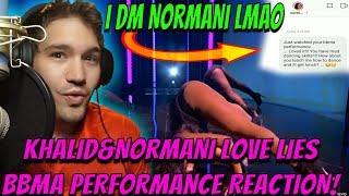 I DM NORMANI!!!😂😂😂| Khalid, Normani - Love Lies (BBMA 2018 Performance) REACTION!!! Video