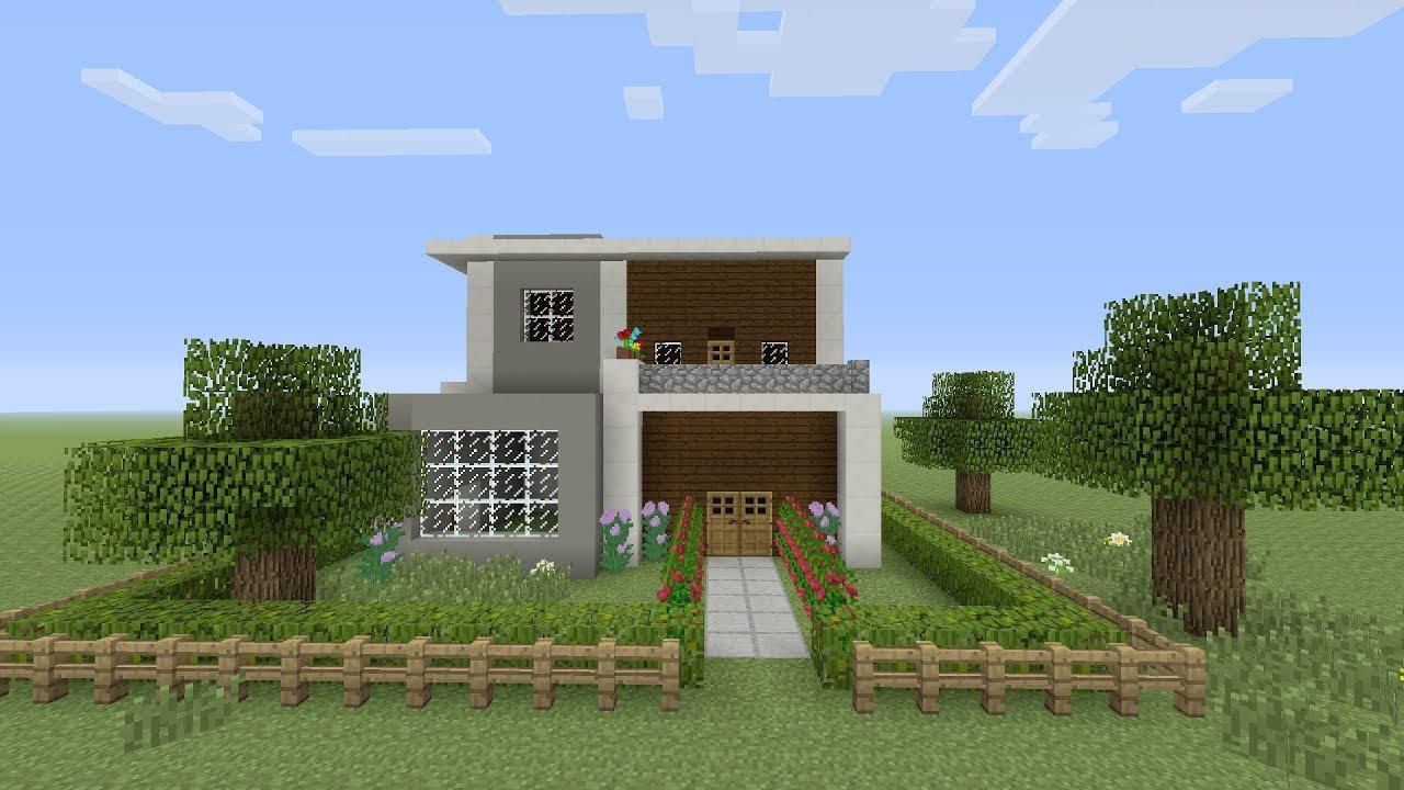 Minecraft een groote moderne huis maken nderlands youtube