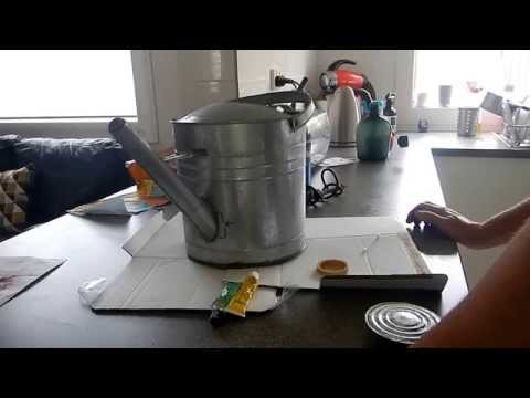 How To Repair A Garden Galvanized Watering Can With No Metal Working Tools