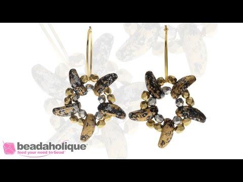 How to Make the Metallic Starfish Earrings with Tweedy Finish Chili Beads