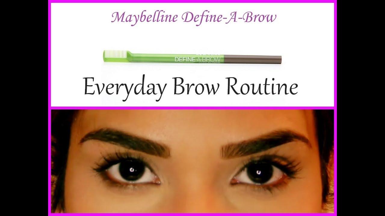 Everyday Brow Routine Drugstore Maybelline Define A Brow