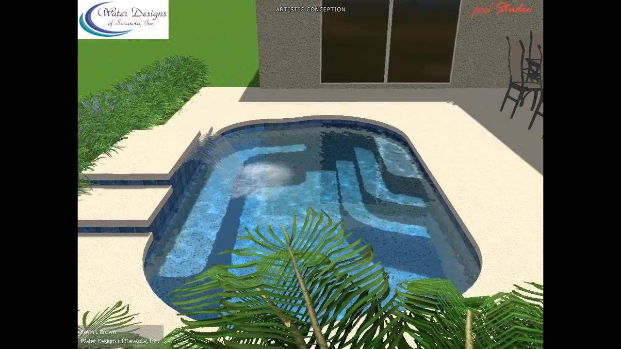 water designs of sarasota spool renovation with water feature