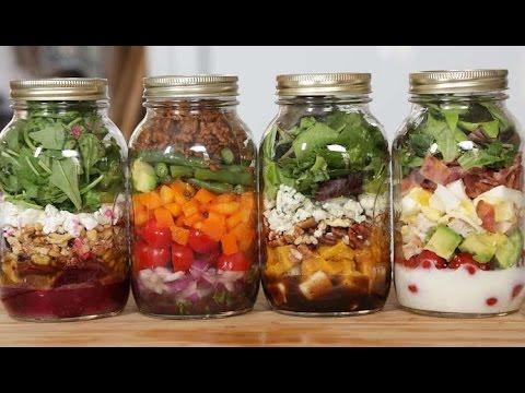 4 MORE Salad-In-A-Jar Recipes!
