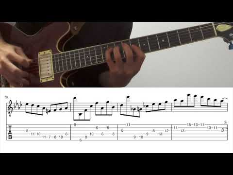 All The Things You Are(solo) / Julian Lage Transcription(tab + sheet music)弾いてみた