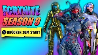 Fortnite SEASON 9 KOMPLETTER Battle Pass 😱 Trailer, All Skins, Leaks | German