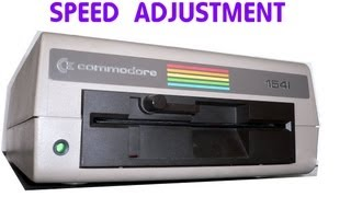 Adjusting the Commodore 1541 disk drive speed