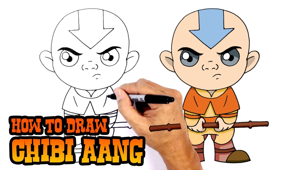 How to draw aang avatar the last airbender youtube