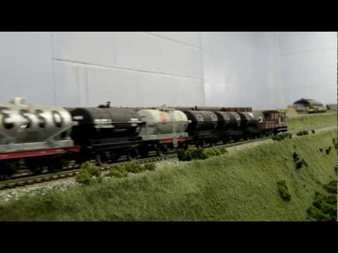 North East model railway - Black 5, Tankers & Pickup Goods